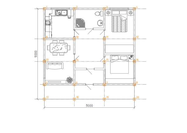 Фундамент одноэтажного дома 9х9