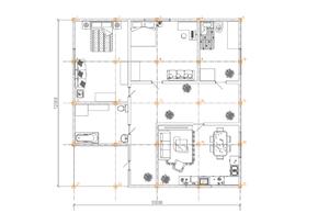 Фундамент одноэтажного дома 12х12