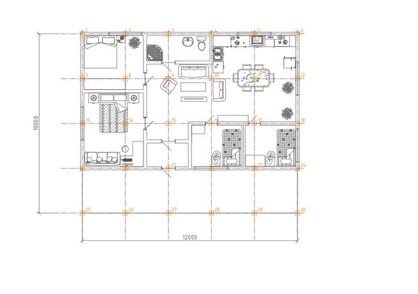 Фундамент одноэтажного дома 10х12