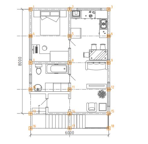 Фундамент для деревянного дома 6x8